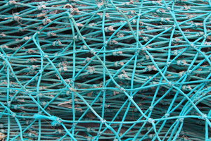 Network: Close up of a fishermens net