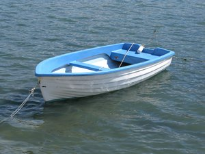 little blue boat