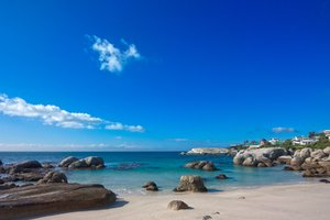 Boulders Beach - HDR: Wide-angle scenery of Boulder Beach near Cape Town, South Africa. HDR composite from multiple exposures.