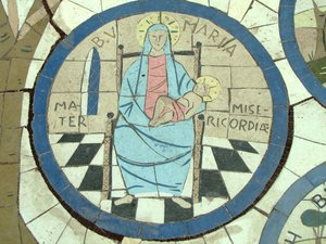 Bible image pavement: Mary, mother of Jesus