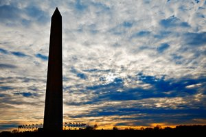 Washington Monument Silhouette