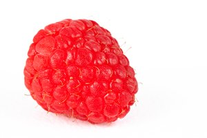 Raspberry Macro: Raspberry macro isolated on a white background.