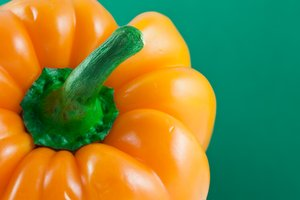 Orange Pepper Close-up