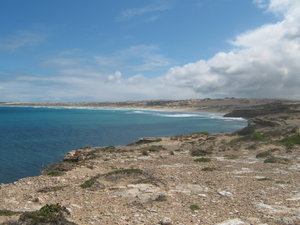 Yorke Peninsula: Looking West along part of the coastline on Yorke Peninsula, South Australia.