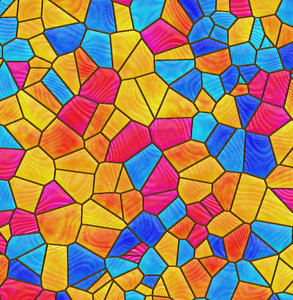 Stained Glass 2: A colourful stained glass graphic. Would make an excellent fill, background, texture, etc. Bright and happy primary colours.