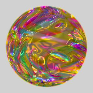 Colourful Metallic Ball 6