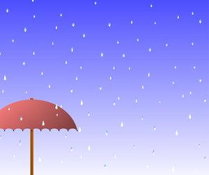 April Rain Background