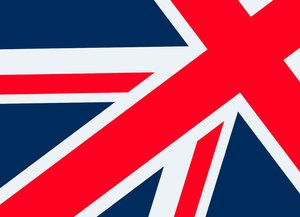 Union Flag 3: The union flag of Great Britain.  Absract.