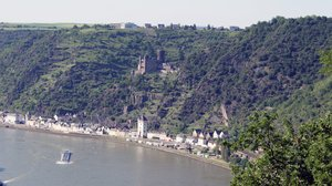 Lorelei cliff: Mid Rhine Germany. On the Lorelei cliff, Sankt Goarhausen.