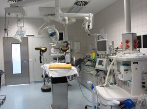 Operating room: OR in a hospital