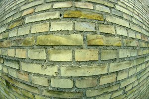 Texture: Brickwall with fishey: Brickwall with fisheye lens