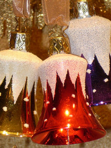 Bells for the Holidays: Beautiful assortment of Holiday frosted Bells