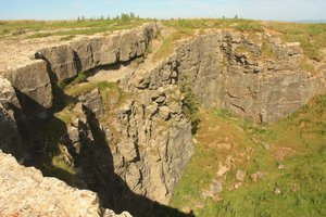 Quarry cliff: Cliffs at the edge of a Cumbrian disused quarry