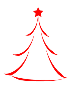 Christmas Tree Icon 2: Minimalist abstract Christmas tree icon on white background.