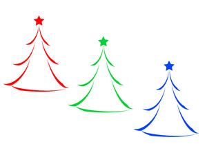 RGB Christmas Tree Icons