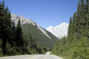 Mountain road: A road through the Rockies, Canada.