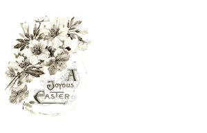 Easter Card 6: A victorian Easter wish, made from a public domain image. Pretty and old fashined, it makes a nice Easter card or greeting.