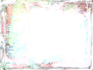 Grungy Border 3: A messy, grungy border or frame in orange, brown, pink, aqua, and yellow. Plenty of copyspace.