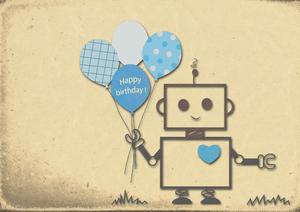 Happy Birthday Robot Boy