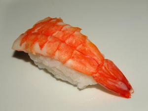 Sushi - Nigiri with prawns