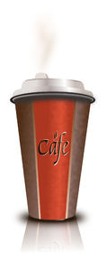 Cafe: vector image of coffee cup's