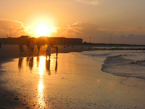 Golden sunset on Tybee