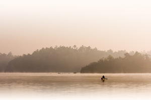 Fisherman in first Morning Lig