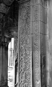 Angkor Wat stonework4: artistic carvings and stonework at Cambodia's Angkor Wat temple complex