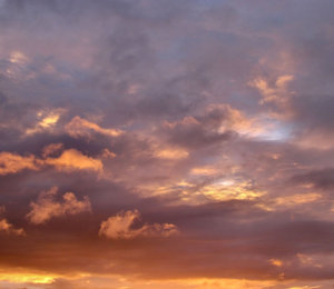 evening sky colour2: Southern sunset  clouds