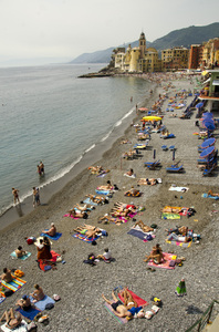 Beach view of Camogli
