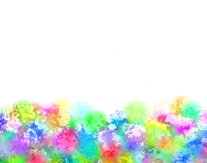 Rainbow Patterned Border 1: A splotchy, grungy patterned border in pastel rainbow colours. Bright and eyecatching.