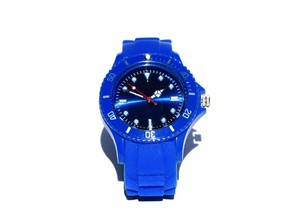 blue wrist watch