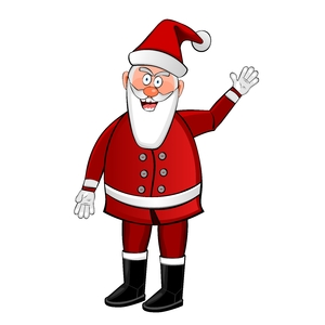 Crazy Santa 2: Little crazy Santa Claus on the white background