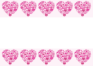 I Heart Border pink: I Heart Border pink 