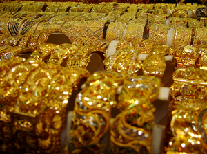 GOLD: Gold souk detail in Dubai