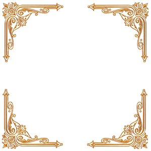 Golden Ornate Border 18