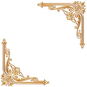 Golden Ornate Border 14