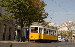 Lisbon Tram 1: Classics Lisboa trams, in it's yellow colour.