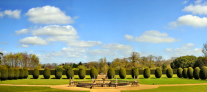 Formal garden: Formal Garden with fountain