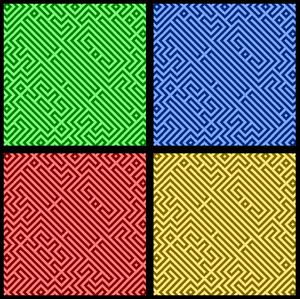 Pop Art Maze Paper