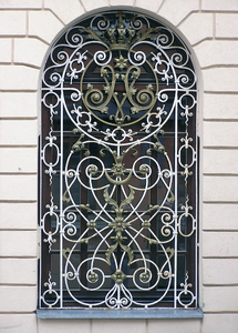 Decorative barred window