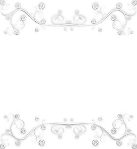 Ornate Metallic Border 4: A silver metallic ornate swirly border or ...