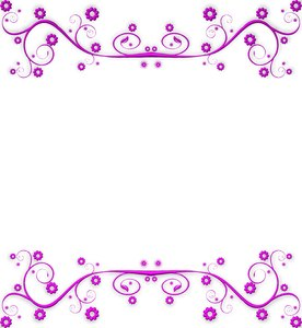 Ornate Metallic Border 1: A pink metallic ornate swirly border or frame on a white background. You may prefer this:  http://www.rgbstock.com/photo/nXQED7M/Golden+Ornate+Border+6  or this:  http://www.rgbstock.com/photo/nvi0UW8/Golden+Ornate+Border+2