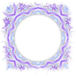 Round Frame: A round frame with a grunge border in pastel shades.