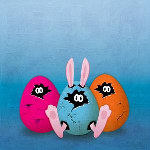 Easter Rabbit Egg grunge