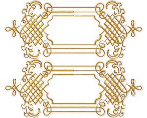 Golden Ornate Border 8