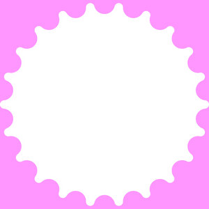Geometric Round Frame 2: A round shape with geometric pattern. Great for your own images, scrapbooking, etc. Nice backdrop for a card or message.