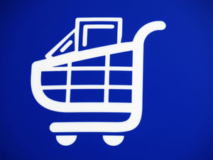 shopping cart sign