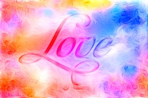 Love 3: Collage graphic of the word