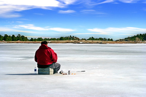 Ice Fishing Landscape